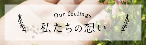 Our feelings 私たちの想い